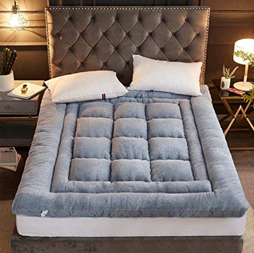 Espesado colchón futón colchón topper, tatami plegable tapete ultra suave tradicional japonés tatami colchón de piso futon topper colchón estudiante dormitorio dormitorio piso futón colchón yoga grifo