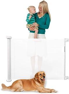 TAOTAO すっきりロールゲート ベビーゲート ペットゲート 出産祝い 赤ちゃん ベビー 新生児 ベビーガード 階段上設置可能 ペットフェンス ベビーフェンス (White)