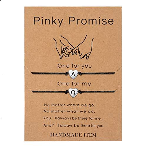 SANNYRA Pinky Promise Bracelets Friendship Couple Distance Matching Bracelet...