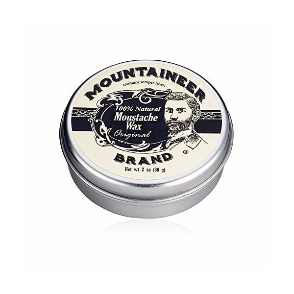Mustache Wax by Mountaineer Brand (2oz)   All-Natural Beeswax and Plant-Based Oils for Moustache   No Petroleum… 1