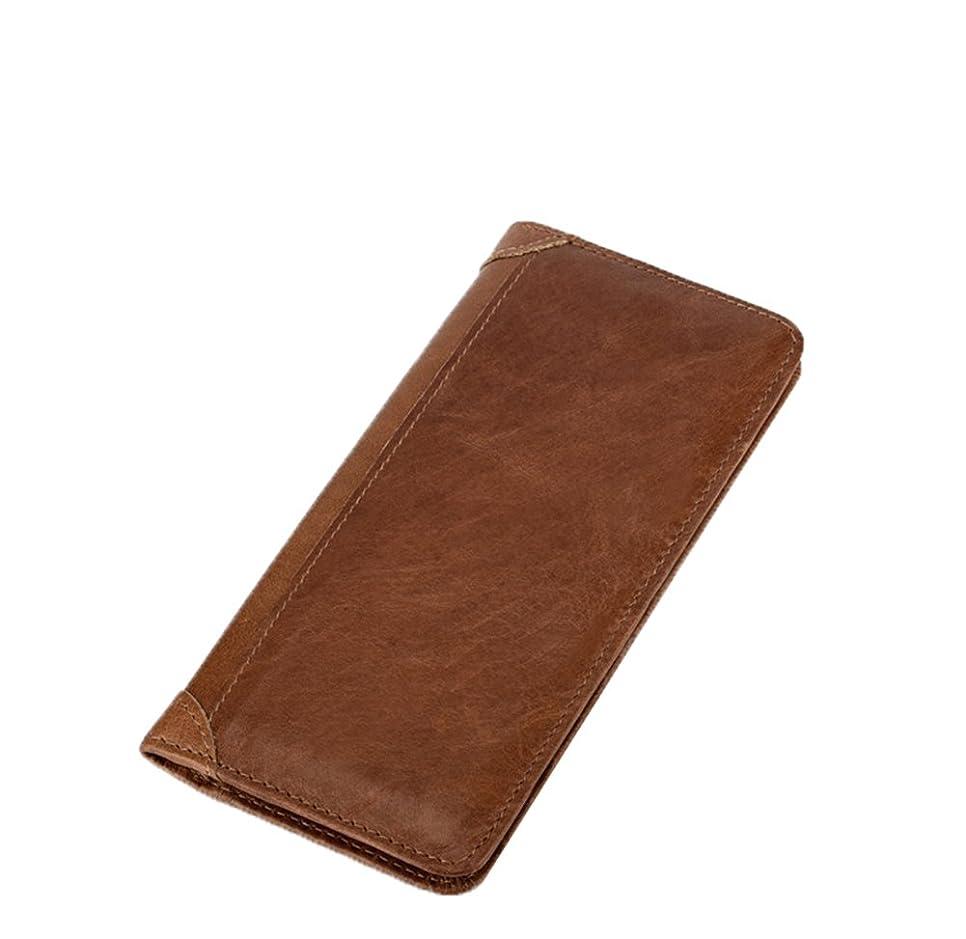 枢機卿アラバマ消去Genda 2Archer(JP) 二つ折り財布 長財布 メンズ レザー 財布 カード12枚 写真入れ ロングウォレット 本革 牛革 シンプル