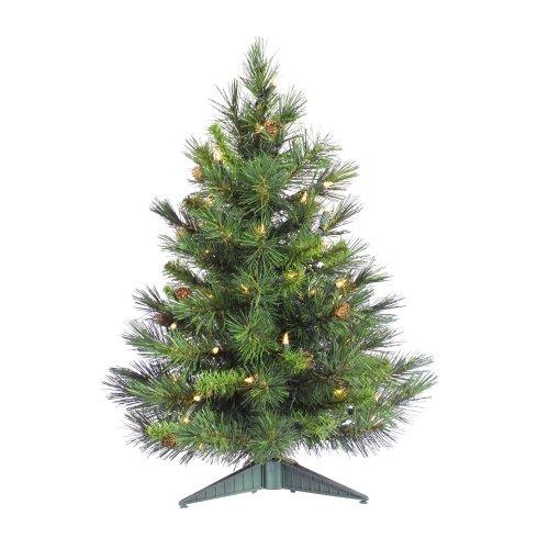 Vickerman - Árbol de Navidad Artificial con Luces Dura, Blanco (Warm White LED Lights), 2', 1