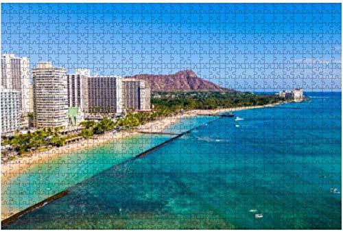Waikiki Aquarium Honolulu Hawaii Lizenzfreie Fotos Stück Puzzles für Erwachsene Lernspielzeug für Kinder Kreative Holzpuzzles Home Decor, 500 Stück 52 * 38 cm