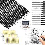 Penna Calligrafia,Nero Set Calligrafia,penna calligrafica cinese,Calligrafia Pen,inchiostro pennello penna set,Lettering penne (12 pezzi)