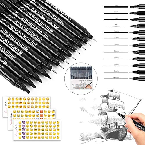 rotuladores caligrafia,rotulador pincel negro,Bolígrafos de Tinta de Caligrafía,Bolígrafos de Caligrafía,Plumas de Caligrafía (12 piezas)