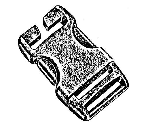 Boucle, Speciale, 25 mm, 2 pieces. peigne - National Molding
