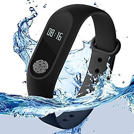 Harikrishnavilla Smart Band with Heart Rate Sensor, Water Proof/Sweat-free for All Devices (Black)