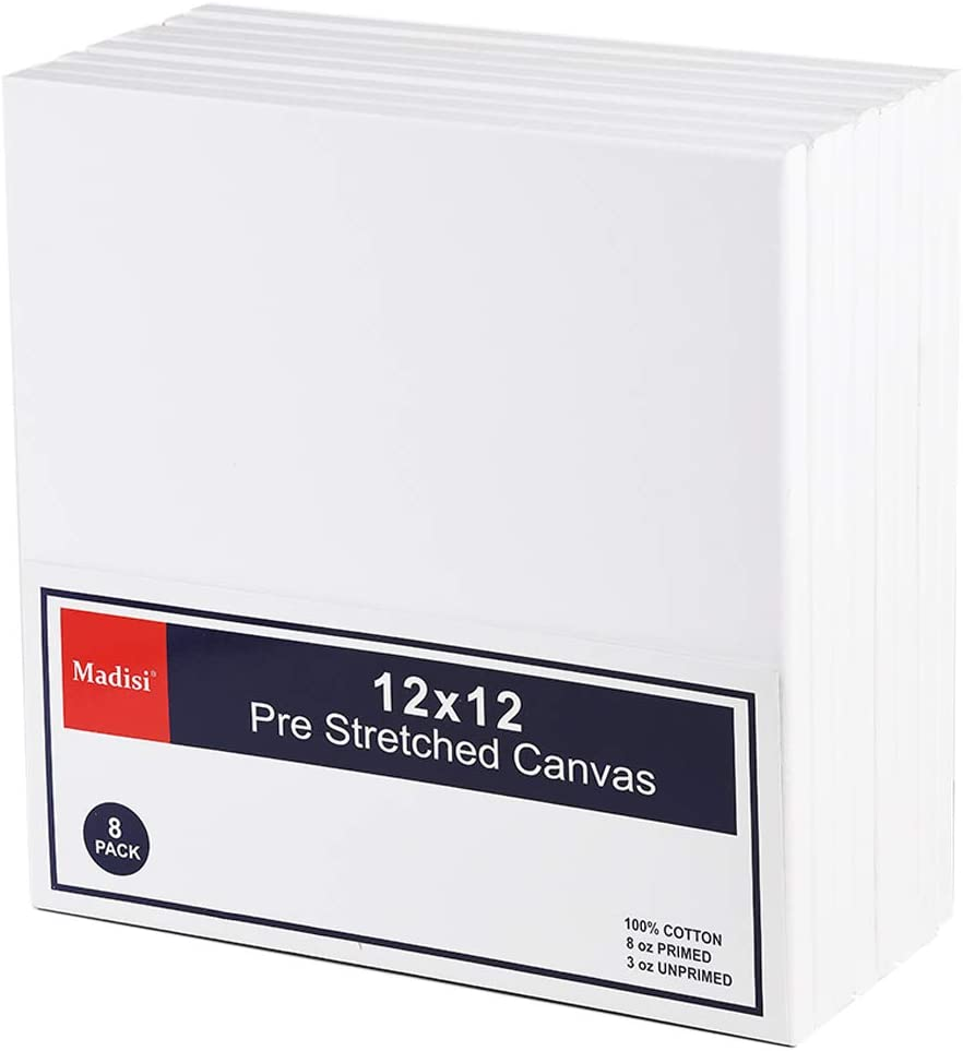 Madisi Pre Stretched Canvas for Pack Painting 8 Max It is very popular 71% OFF 12x12