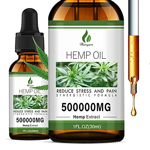 (2 Pack) 1,000,000MG Hemp Oil Extract - Organic Extra Strong Formula - Co2 Extraction - Organically Grown in USA - Organic, Vegan, Non-GMO… (1)