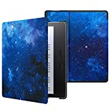 MoKo Funda Compatible con All-New Kindle Oasis (9th and 10th Generation, 2017 and 2019 Release), Ultra Delgada Ligera Smart-Shell Soporte Cover Case - Azul CieloEstrellado