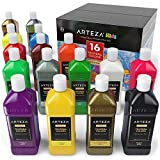 ARTEZA Tempera Paint Set for Kids (13.5 US fl oz./400 ml), 16 Rich, Non-Toxic, and Washable Colors Ideal for...