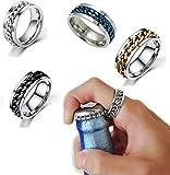 2 Stück/4 Stück Mode Paar Edelstahl Ring Drehbar Flaschenöffner Party Ring Kreative Multifunktionale Bierflaschenöffner