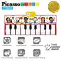 PicassoTiles PTM200 Portable Large Piano Keyboard Educational Musical Playmat w/ 17-Key, 6 Musical Instruments, 7 Demo Songs, Built-in Speaker, Record & Playback for Toddlers and Kids from PicassoTiles