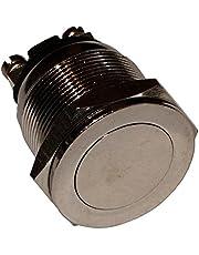 AERZETIX: Interruptor conmutador de boton resistente al vandalismo 2A/250V SPST-NO IP40, 1 posicion C10586