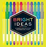 Bright Ideas: 12 Neon and Glitter Colored Gel Pens: 12 Colored Pens