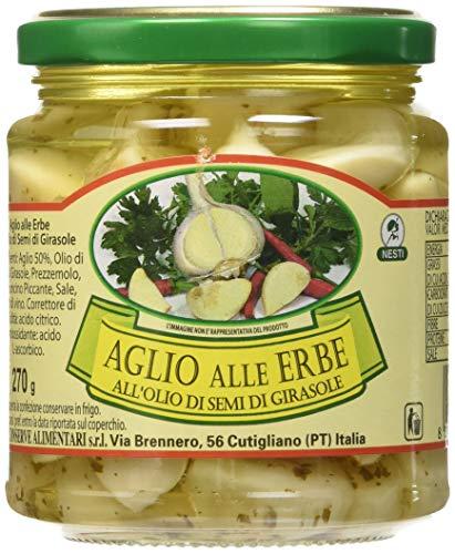 Nesti Conserve Alimentari Aglio Alle Erbe all' Olio di Girasole - Pacco da 6 X 270 g