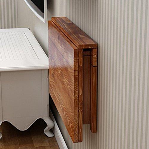 JXXDDQ Stół składany z litego drewna stół do jadalni stół komputerowy stół do nauki biurko na ścianę montowany na ścianie składany stół (rozmiar: 80 * 40 cm)