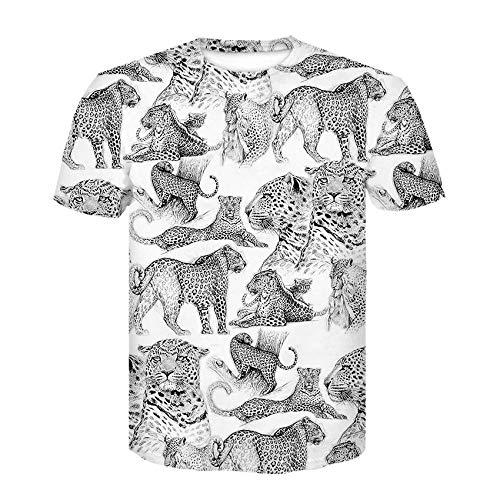 RKWEI T-Shirt da uomo Tigre 3D Stampa Donna Top Manica Corta Camicetta tee personalità Novità Casual Estate Asciugatura rapida Ragazzi e Ragazze