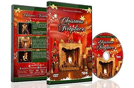 Navidad DvD - Chimenea De Navidad Con Fuego De Leña Con Sonidos Ardientes Y Música De Navidad
