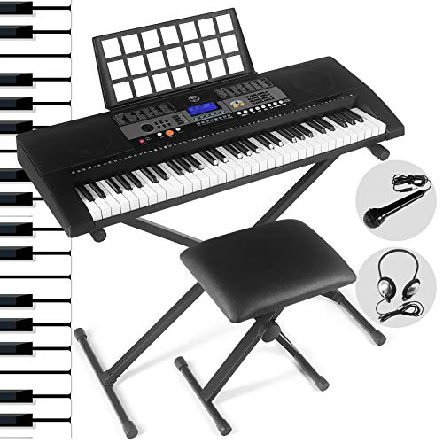 Lowest Prices! 61 Key Portable Electronic Keyboard Piano Keyboard with LCD Screen,Headphones, Micr...