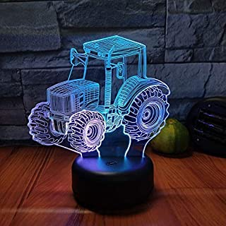 Night Light Colorful Gradient Tractor Two-Color Control boy Bedroom Bedside with Sleeping Lights Children