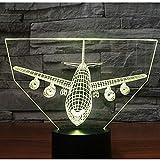 Regalo hecho a mano conmemorativo de cumpleaños luz de noche LED 3D suspensión impactante bombardero de misiles suministros para bebés luz de noche