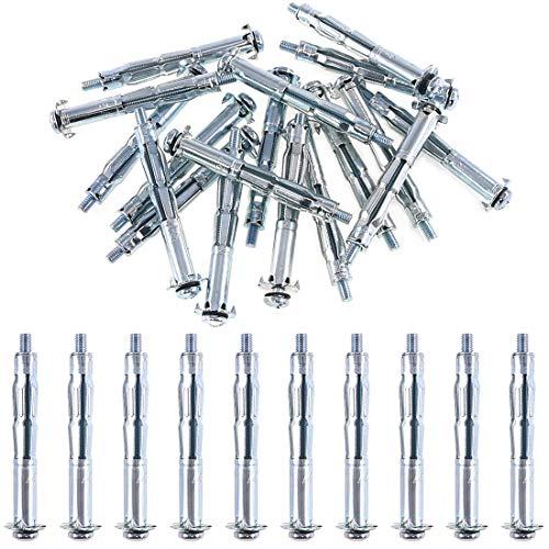 Glarks 30Pcs 5x65MM Heavy Duty Zinc Plated Steel...