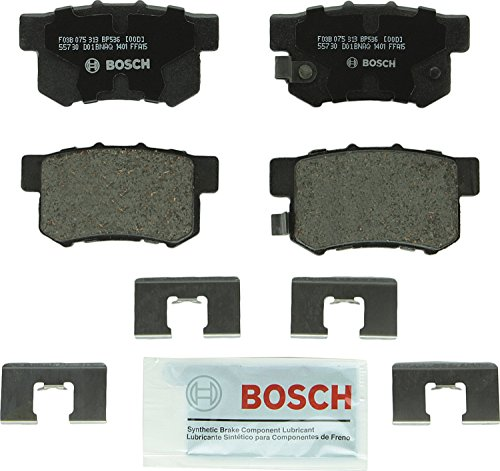 Bosch BP536 QuietCast Premium Disc Brake Pad Set For: Acura CL, EL, Integra, Legend, RL, TL, RDX; Honda CR-V, Element, Odyssey; Isuzu Oasis, Rear