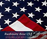 American Flag: 100% Made in USA. Cotton 3x5 ft US Flag by Rushmore Rose USA - Display with Pride
