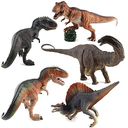 WWYYZ 5PCS Dinosaurio Modelo Juguetes Simulación Animal Plástico PVC Figura De Juguete para Niños Regalos