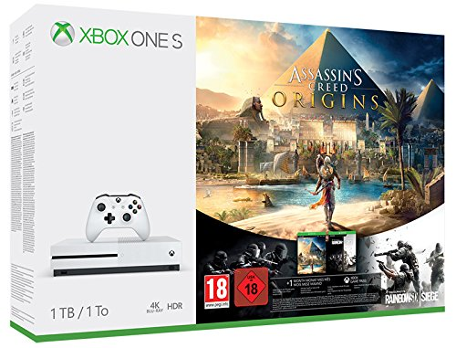 Microsoft - Xbox One S 1 TB + AssassinS Creed Origins: Amazon.es ...