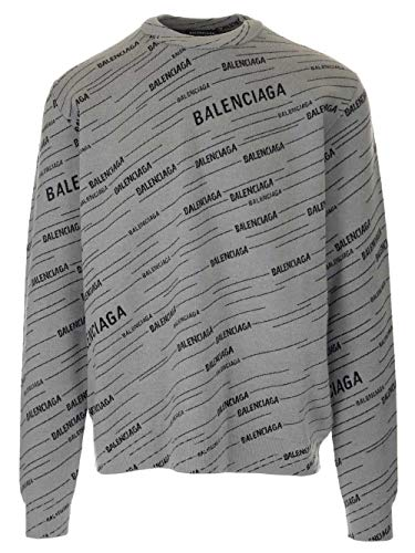 Luxury Fashion | Balenciaga Heren 583080T15241262 Grijs Polyester Truien | Seizoen Permanent