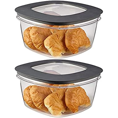 Rubbermaid Premier Food Storage Container, 14 Cup, Gray, Pack of 2