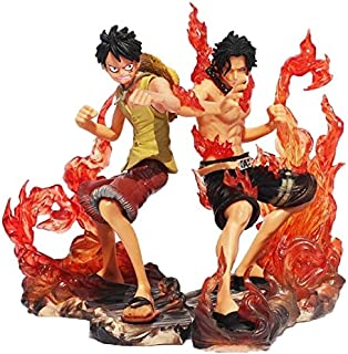 Zizu store 2pcs/set Anime One Piece DX Luffy Ace Action Figure Brotherhood Cartoon 2 Years Later PVC Battle Ver Collection Model Toys 15cm