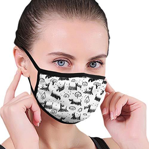 Dingl Black Edge Stofdicht Masker, Eenvoudige Cartoon Puppy Patroon, zacht en comfortabel, Geschikt voor iedereen om te dragen