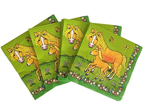 Lutz Mauder 20 Servietten * Mein Ponyhof * für Kindergeburtstag oder Mottoparty // Napkins Kinder Geburtstag Reiten Pferde Pony Motto Party