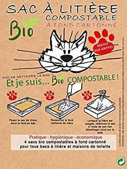 FLORALPINA Olisac - 4 Sacs à litière Bio compostable à Fond cartonné - Olisac