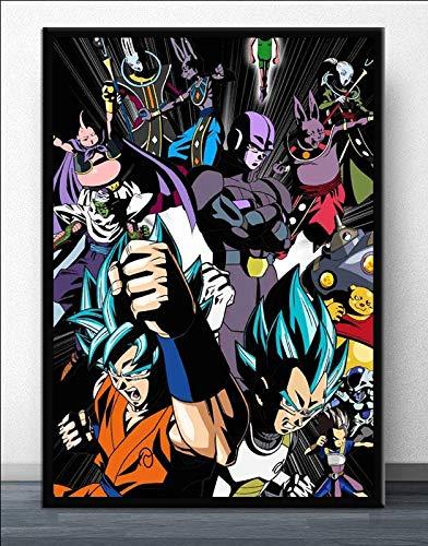 Puzzle 1000 Piezas Goku Anime Japonés Manga Ultra Instinct Puzzle 1000 Piezas educa Rompecabezas de Juguete de descompresión intelectual50x75cm(20x30inch)