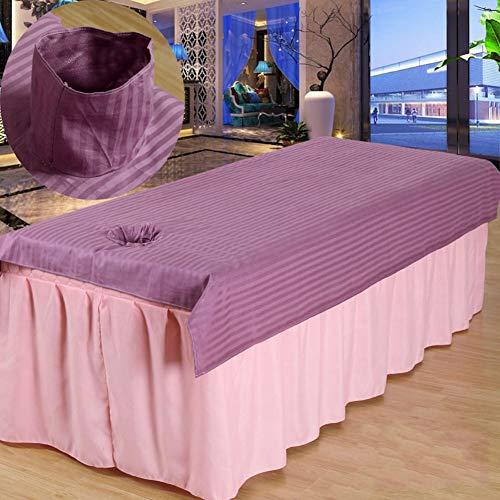 DuvetCover Baumwolle Beauty-bettlaken Mit Gesichtsloch Weich Laken Für Beauty-Salon Anti-Slip Massage Tischblatt Se Massage-bettbezug Waschbar K 100x200cm(39x79inch)