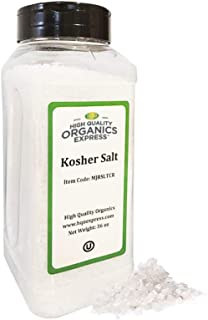 HQOExpress   Organic Kosher Salt   36 oz. Chef Jar