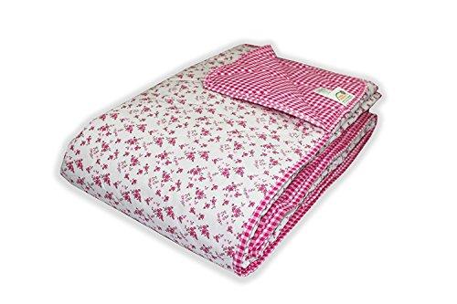 MERINO BETTEN Wendedecke Kuscheldecke, Super Softe Tagesdecke mit extra Füllung in intensiven Farben und Größen (weitere Verfügbar) (Pink, 140 x 220 cm)