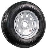 Radial Trailer Tire On Silver Rim ST225/75R15 LRD 5 Lug On 4.5 Modular Wheel