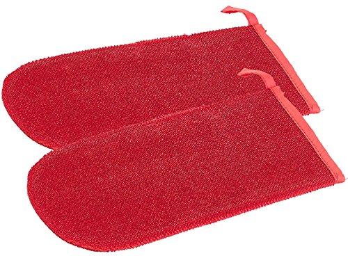 infactory Fusselhandschuh: 2er-Set Doppelseitige Anti-Fussel-Handschuhe für Kleidung, Sofa & Auto (Tierhaarentferner Handschuh)