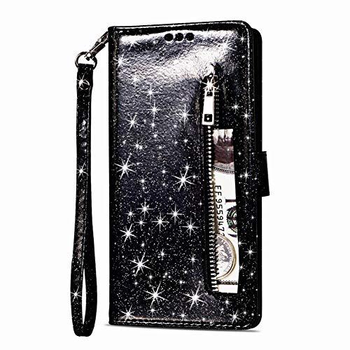 Homikon - Funda de piel sintética para Samsung Galaxy A50, color negro