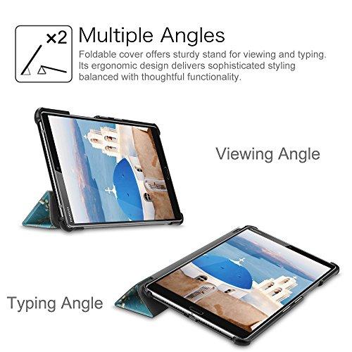 Fintie Hülle Case für Huawei Mediapad M5 8 Tablet - Ultra Dünn Superleicht SlimShell Ständer Case Cover Schutzhülle Auto Sleep/Wake Funktion für Huawei MediaPad M5 21,34 cm (8,4 Zoll), Mandelblüten - 6