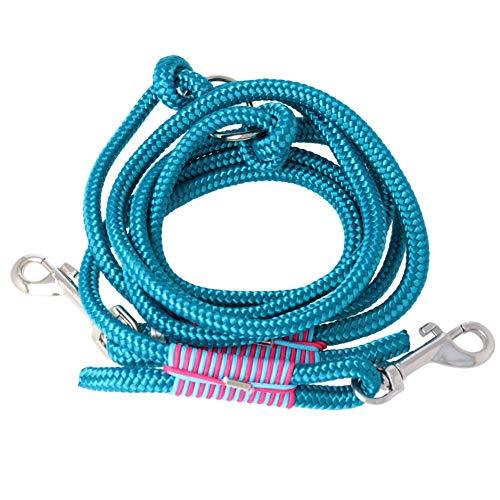 Taumur Eyjarband - Zweifach verstellbare Hundeleine - Robustes PPM - mittelgroße Hunde - Farbe: blaugrün