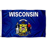 Sports Flags Pennants Company State of Wisconsin Flag 3x5 Foot Banner