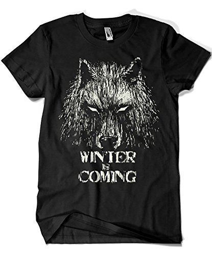 344-Camiseta Winter Is Coming (Fuacka) (Negro, L)