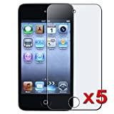 eTECH Collection 5 Pack of Anti-Glare and Anti-Fingerprint (Matte) Screen Protectors for Apple iPod Touch 4th Generation