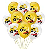 Amosfun 20 Teile / Satz 12 Zoll Bagger Latex Ballon Kinder Geburtstag Ballons für Party Geburtstag (10 weiße Ballons + 10 gelbe Ballons)